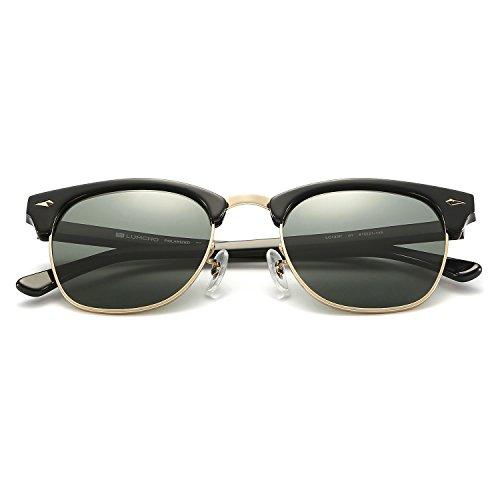 LUMCHO small size Black - Sizes Clubmaster Sunglasses
