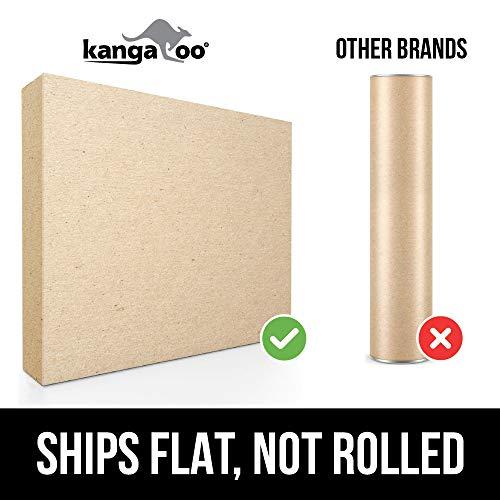 Kangaroo Original 3/4'' Standing Mat Kitchen Rug, Anti Fatigue Comfort Flooring, Phthalate Free, Commercial Grade Pads, Waterproof, Ergonomic Floor Pad, Rugs for Office Stand Up Desk, 32x20 (Black) by Kangaroo (Image #5)