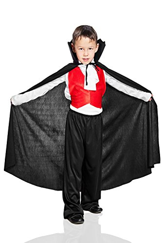 [Kids Boys Dracula Halloween Costume Gothic Victorian Vampire Dress Up & Role Play (6-8 years)] (Count Gothic Costumes)
