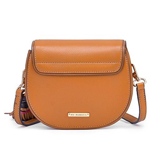 Lightweight brown Mini Crossbody Tassel Bag with rM1rxOqFwv