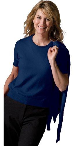 Edwards Garment Women's Jewel Neck Long Sleeve Cardigan, Navy, S ()