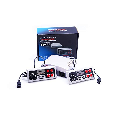 Classic Retro Children's Game, 2 Controllers Built-in 620 TV Video Game Console Professional System