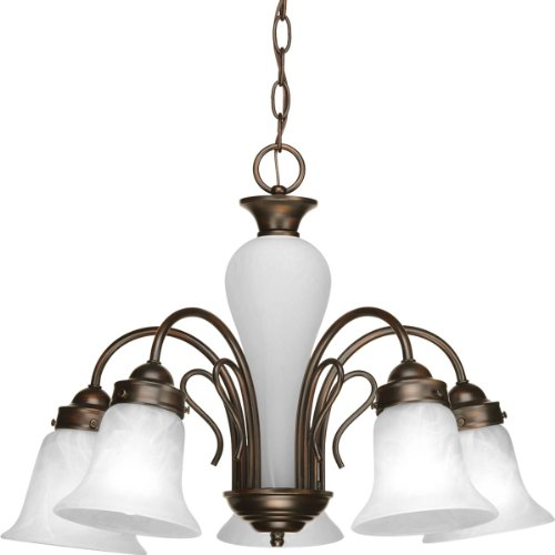 Progress Lighting P4391-20 Med Chandelier, 5-100-watt
