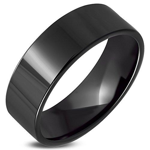Zense-Bague-homme-en-acier-noir-moderne-ZR0134