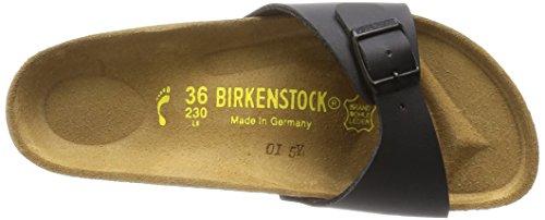 Birkenstock Madrid Black Womens Leather Sandals Shoes-3