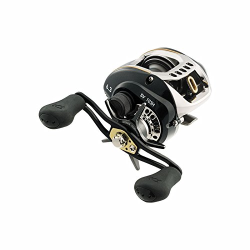Cheap Daiwa SV 103XS Test Hyper Speed Baitcasting Fishing Reel, 14-16 lb, Black, Left/Right