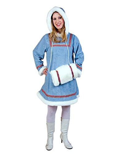 Esquimal para mujer Disfraz, Azul, Blanco: Amazon.es: Juguetes y ...