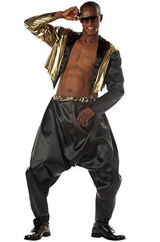 California Costumes Men's Old School Rapper Costume, Black/Gold, Small/Medium ()