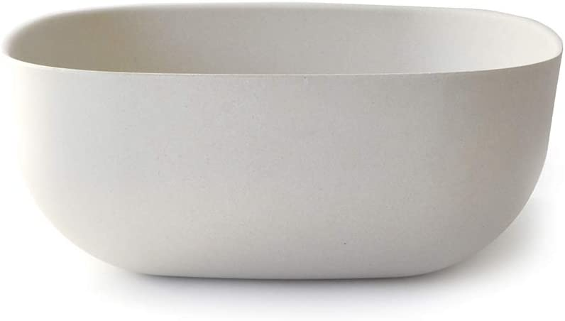 White BIOBU Eco-Material EKOBO Bamboo Large Multi-Purpose Bowl /& Colander Set