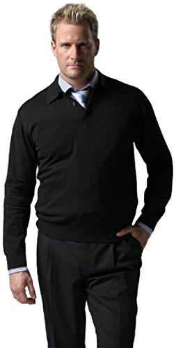 Knightsbridge Super 100's Wool Stretch Gab Men's Dress Pants, 1 Pleat Black 36 (Trousers Black Button Fly Gabardine)