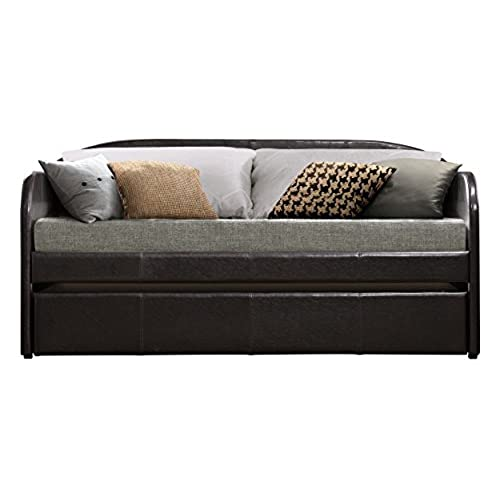 Homelegance 4950 Daybed With Trundle, Dark Brown Bi Cast Vinyl