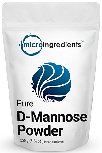 Pure D-Mannose Powder, 8.8 Ounce (250 grams), Powerful Urinary Tract Cleanse and Bladder Health Support. Non-Irradiated, Non-Contaminated, Non-GMO and Vegan Friendly.