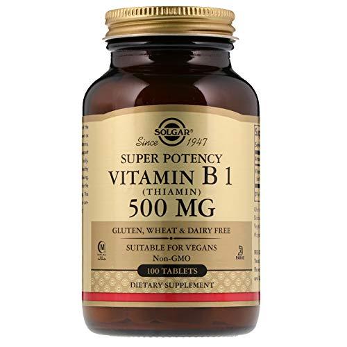 Solgar Vitamina B1 (Tiamina) 500 mg Comprimidos - Envase de 100: Amazon.es: Salud y cuidado personal