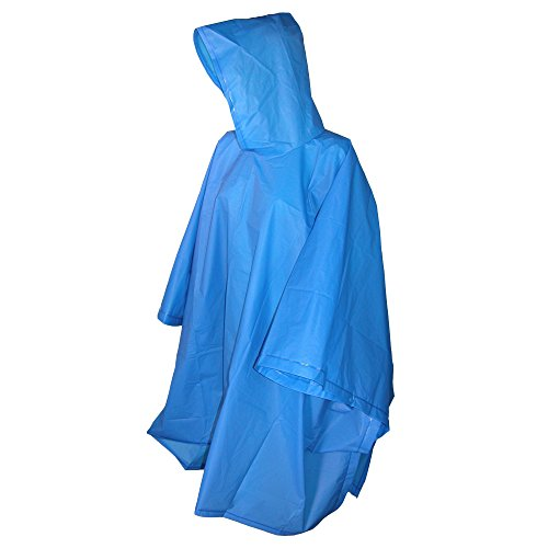 - totes ISOTONER Unisex Hooded Pullover Rain Poncho with Side Snaps, Royal Blue, One Size