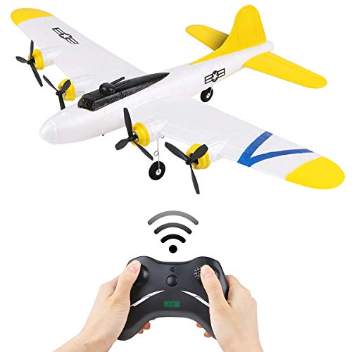 RC Airplanes B17 2 Channel 2.4GHz RC Plane Built-in Gyro System EPP Ready to Fly Romote Control Airplane for Outdoor Flight Easy to Fly