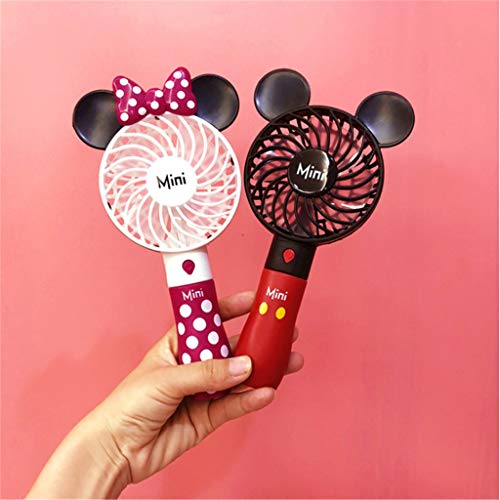 (Giercooler Yctech Creative Outdoor Portable Cartoon Cute Mickey USB Student Mini Handheld Fan with Lithium Battery Rechargeable Mikey)
