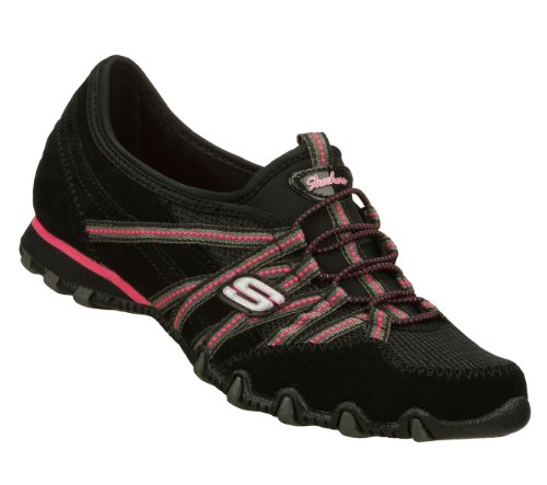 Skechers Bikers Quick Step Womens Sneakers Black/Hot Pink 7