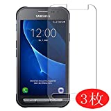 samsung galaxy xcover 3 g389f 【3 Pack】 Synvy Screen Protector for Samsung Galaxy Xcover 3 G389F TPU Flexible HD Clear Case-Friendly Film Protective Protectors [Not Tempered Glass]