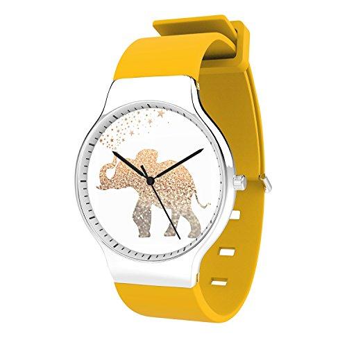 FELOOWSE Animel Men Watches Elephant Watch Men's Quartz Watches, Minimalist Slim Japanese Quartz Youth Silicone Watches, Fashion PracticalWaterproof Boys Watch Customized Watches by FELOOWSE (Image #1)