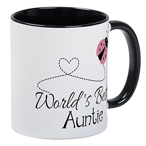CafePress World's Best Auntie Ladybug Mug Unique Coffee Mug, Coffee Cup