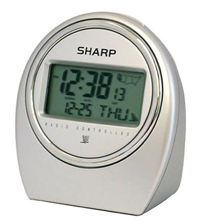 amazon com sharp spc364 atomic lcd bedside alarm clock silver rh amazon com Sharp SPC364 Atomic Clock Manual Sharp SPC364 Atomic Clock Manual