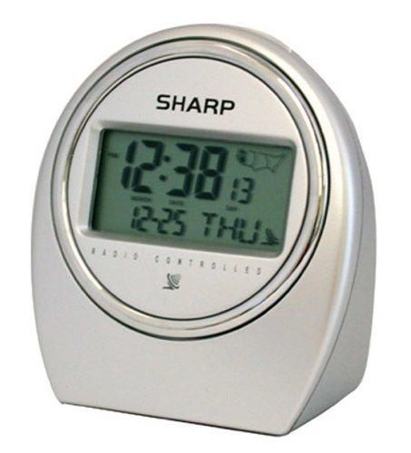 Amazon Sharp Spc364 Atomic Lcd Bedside Alarm Clock Silver
