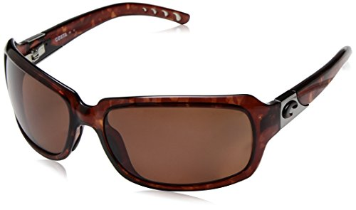Costa del Mar Women's Isabela IB 10 OCP Polarized Oval Sunglasses, Tortoise, 63.2 - Costa Mar Del Sun Glasses