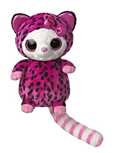 Aurora World YooHoo and Friends Large Pammee Pink and Black Cheetah Plush