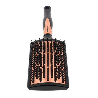 Conair Quick Blow-Dry Pro Curved Copper Paddle Brush Black