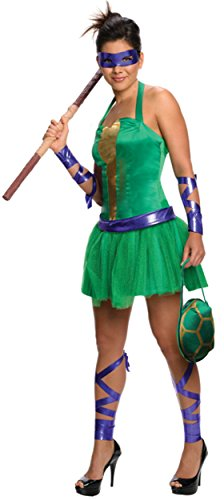 Secret Wishes  Costume Teenage Mutant Ninja Turtles Donatello Adult Female, Green, Medium -