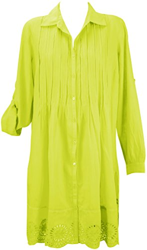 Red Point Beachwear, Mujer, Complemento, Camisa, Patri, Línea lisa Verde pistacho