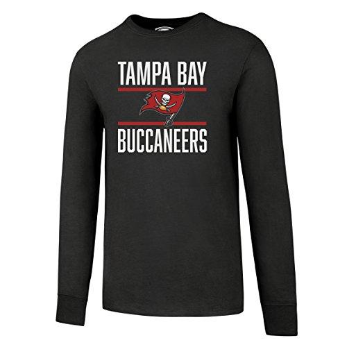 OTS NFL Tampa Bay Buccaneers Men's Alt Rival Long Sleeve Tee, Charcoal, ()