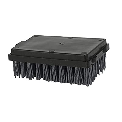 Charcoal Companion Dual Handle Monster Barbecue Grill Brush & Grill Scraper Replacement Head with Safe-Scrub Nylon Bristles - Best BBQ Cleaner CC4127