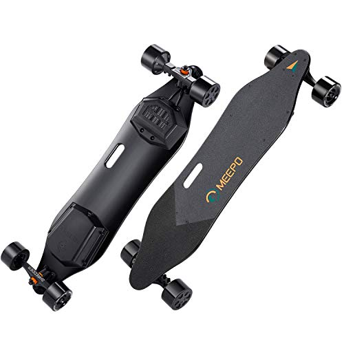 MEEPO Electric Skateboard & Longboard, 38inch Dual Motor Electric Skateboard with Remote Controller - 800 Watts Motors | 11 Mile Range | 29 MPH Speed | Up to 30% Grade Hill Climbing (Large)