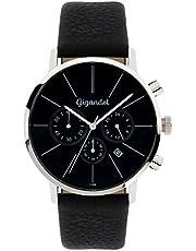 Gigandet Herren-Armbanduhr schwarz Chronograph Quarz Analog Leder  G32-002