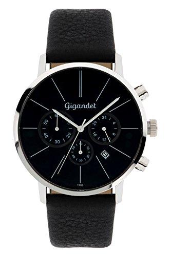 Gigandet-Quarz-Herren-Armbanduhr-Minimalism-Chronograph-Uhr-Datum-Analog-Lederarmband-Schwarz-G32-002