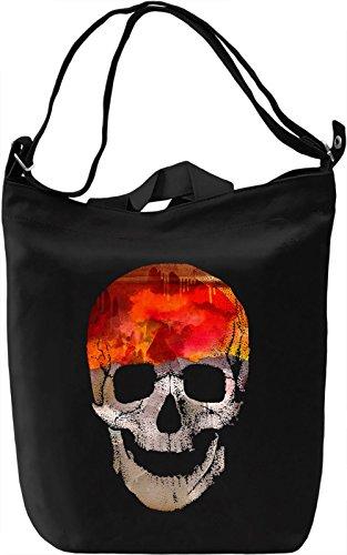 Grunge Skull Head Borsa Giornaliera Canvas Canvas Day Bag| 100% Premium Cotton Canvas| DTG Printing|
