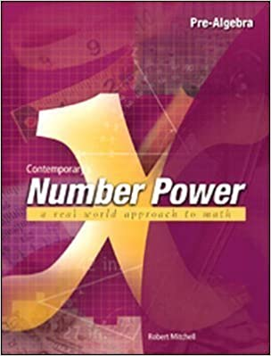 Book Contemporary's Number Power X Pre-Algebra: A Real World Approach to Math by Mitchell, Robert [2000]