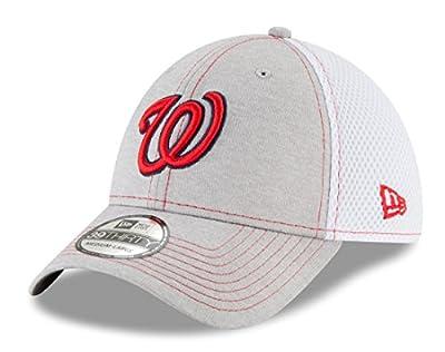 "Washington Nationals New Era MLB 39THIRTY ""Classic Shade Neo Gray"" Flex Fit Hat"