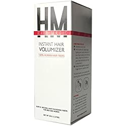 Hair Loss Concealer: 100% Human Hair Fibers Adhere To Thin Spots For Natural Looking, Itch Free Coverage (Jet Black)
