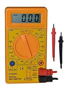 Digital LCD Multimeter Voltmeter Ammeter AC DC OHM Volt Current Tester Volt Orange