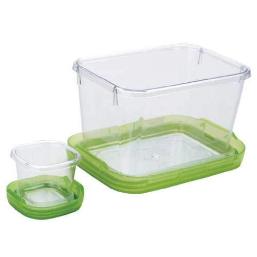 OXO Good Grips 5-1/2-Cup Lock Top Lunch Set, Green