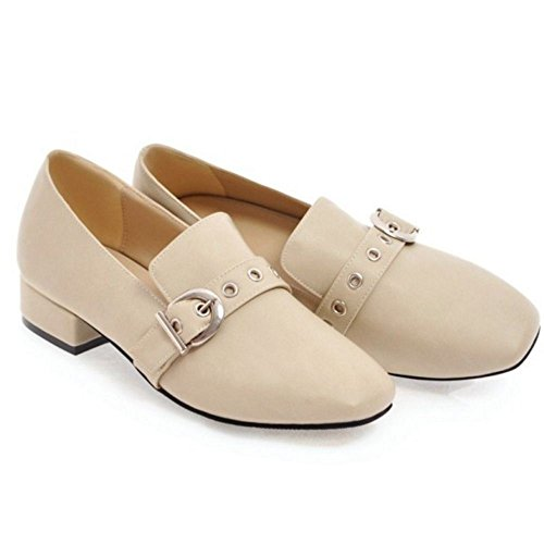 Mode Brogue Mujer Zanpa Low Beige Top Zapatos 568x7zxqw
