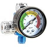T4W Régulateur de pression avec manometre pour Pistolets de pulvérisation / bleu (59405)
