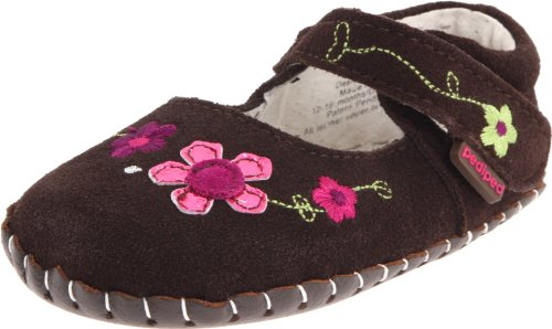 pediped Originals Camille Mary Jane (Infant),Brown,Extra Small (0-6 Months)