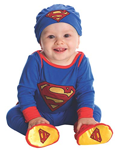 DC Comics Superman Onesie And Headpiece, Blue, 6-12 Months Costume