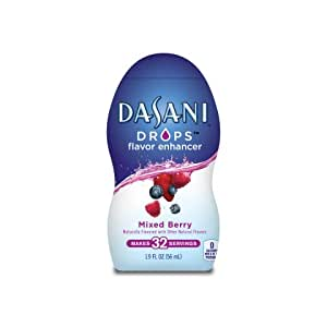 Dasani Drops Water Flavor Enhancer Mixed Berry 1.9 Fl Oz (Pack of 3)
