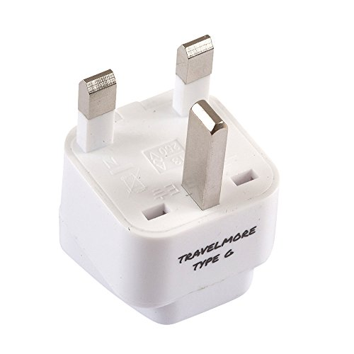 UK Travel Adapter For TYPE G Plug - Works With Electrical Outlets In United Kingdom, Hong Kong, Ireland, Great Britain, Scotland, England, London, Dublin & More – 1 Pack