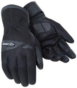 Tourmaster Mens Dri-Mesh Black Mesh/Leather Gloves - Small