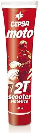 CEPSA Moto - Aceite sintético para Motor de 2 Tiempos, Sint, 125 ml, para Scooter: Amazon.es: Coche y moto